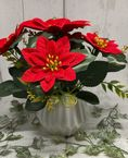 Poinsettia Forever Flowers in vase by Craft Buddy